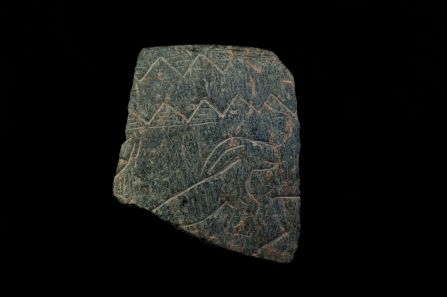 Fragment of a decorated stone bowl from Göbekli Tepe (Photo N. Becker, Copyright DAI).