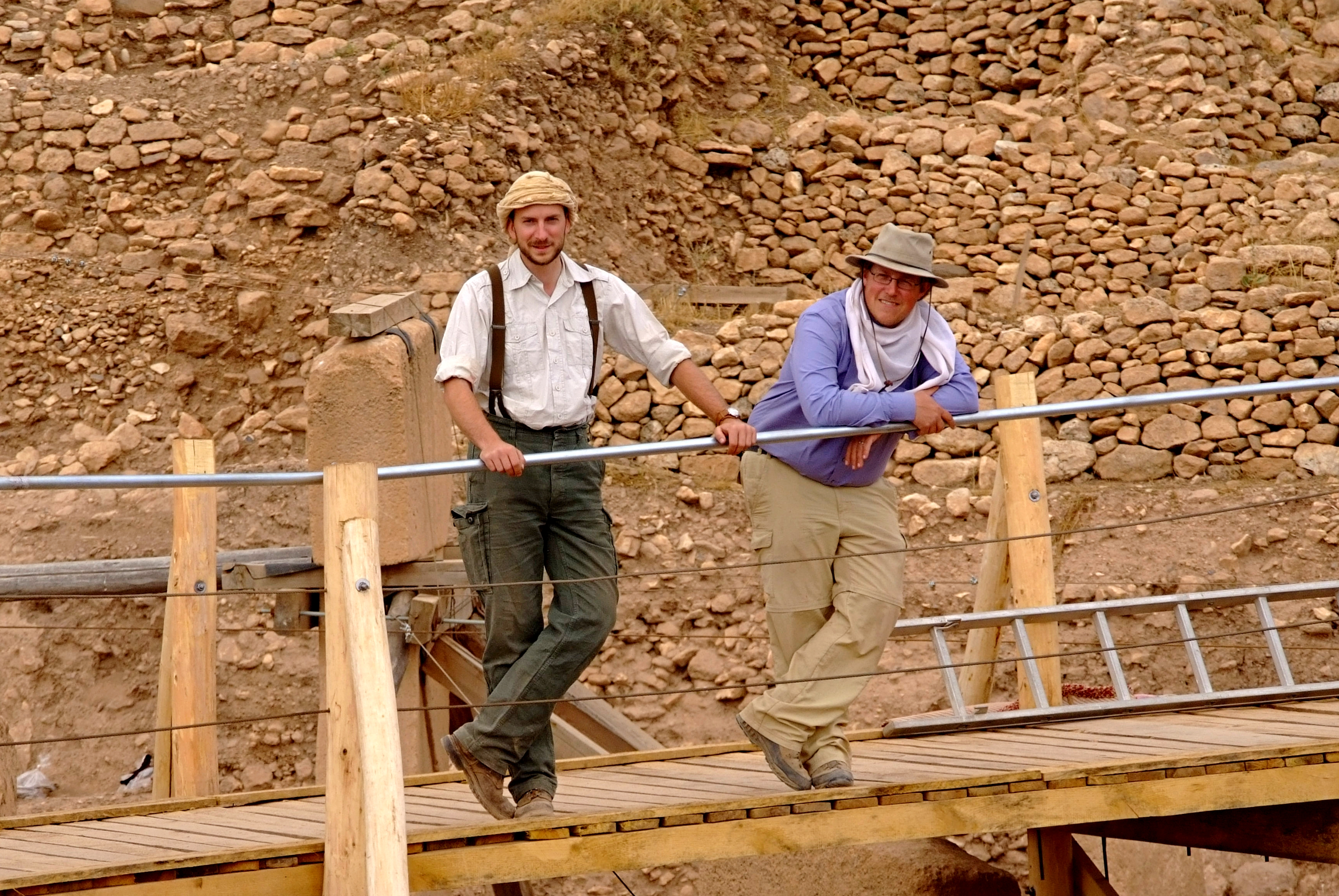 The Tepe Telegrams Correspondents, Yours Truly On Site: Jens (left) And  Oliver (right). (Photo: N. Becker, DAI)