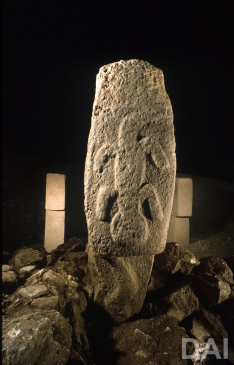 Pillar 6 from Göbekli Tepe' s Enclosure B. (Photo: German Archaeological Institute, Irmgard Wagner)