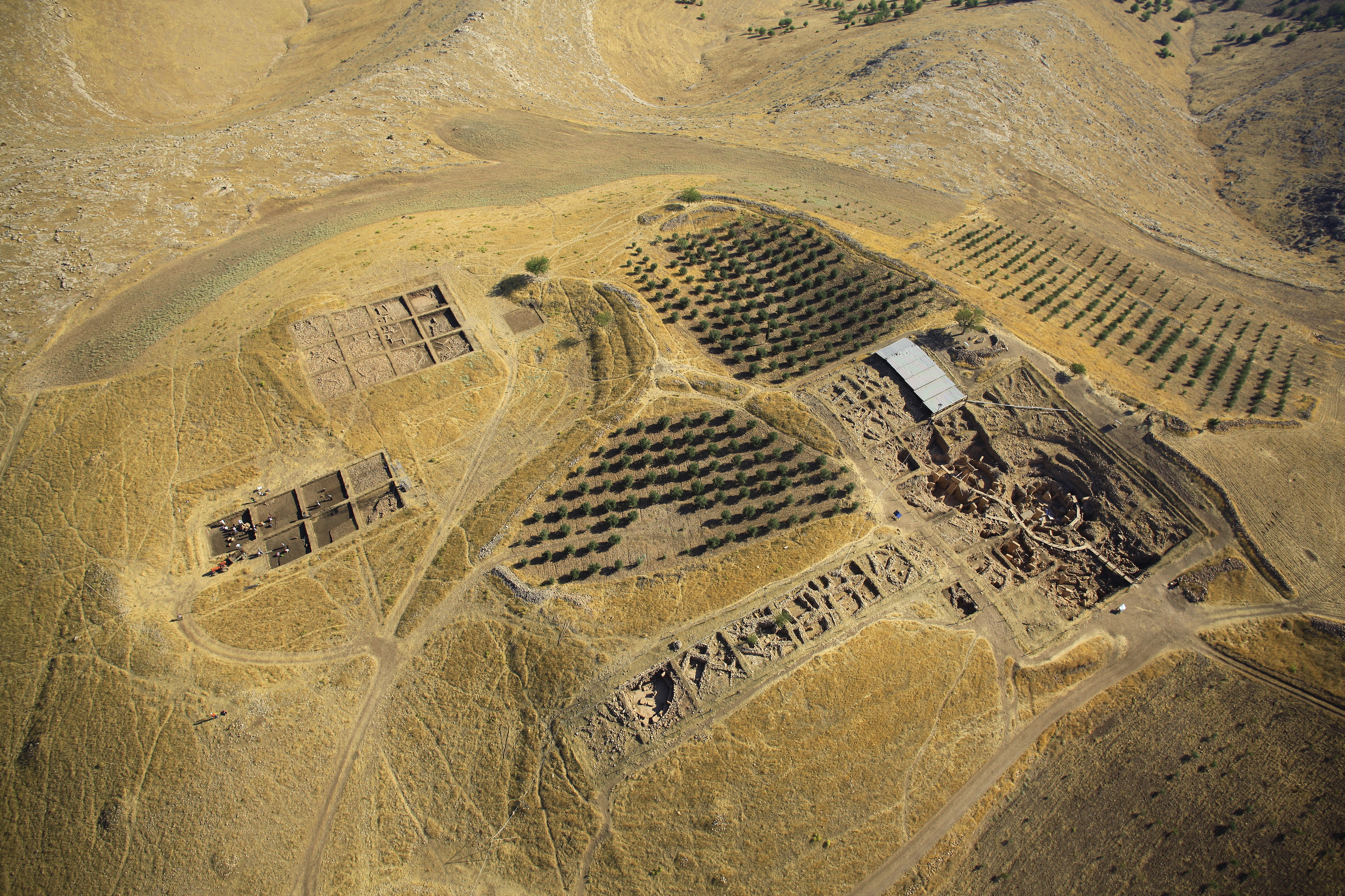 Aerial View Of The Mound Of Göbekli Tepe With Excavation Areas. (Photo: E.  Kücük, DAI)