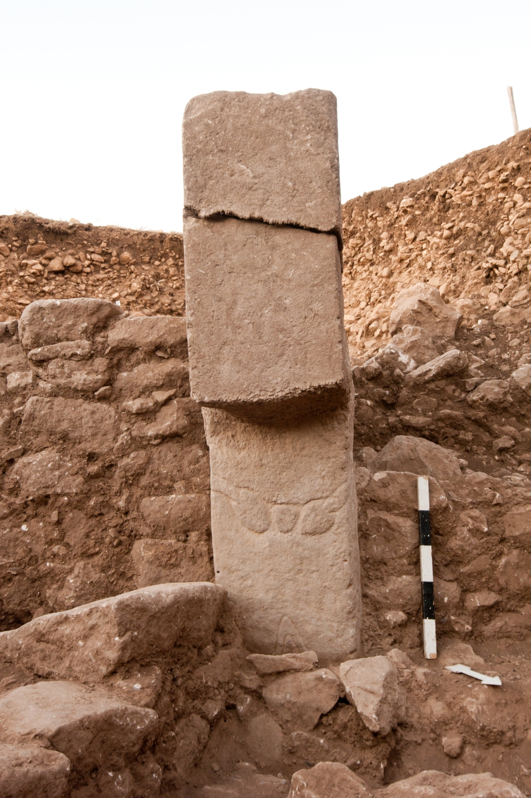 Broken Stone Pillar : The tepe telegrams news notes from göbekli