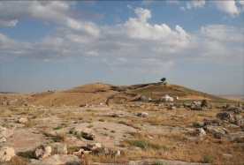 The mound of Göbekli Tepe seen from the south. (Photo: K. Schmidt, DAI)
